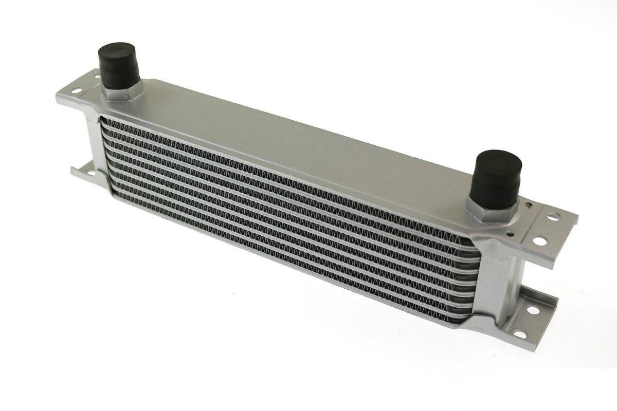 Chłodnica Oleju TurboWorks 9-rzędowa 260x70x50 AN10 Silver - GRUBYGARAGE - Sklep Tuningowy